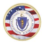Pin de la solapa del gran sello de Massachusetts