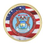 Pin de la solapa del gran sello de Michigan