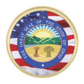 Pin de la solapa del gran sello de Ohio Pins Dorados