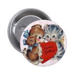 Pin de la tarjeta del día de San Valentín del gati