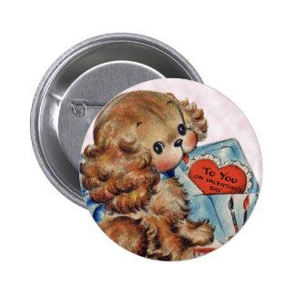 Pin de la tarjeta del día de San Valentín del perr