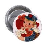 Pin de la tarjeta del día de San Valentín del vint