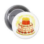 Pin de la torta del feliz cumpleaños del vintage