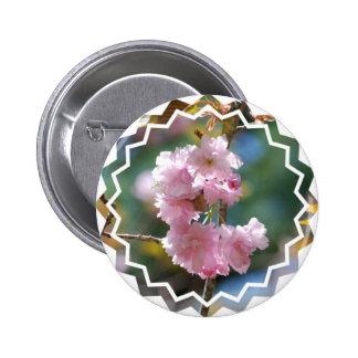 Pin de las flores de cerezo pin redondo 5 cm