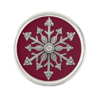 Pin de lazo elegante del copo de nieve del boda de