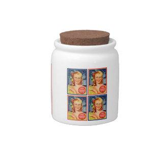 Pin de los gráficos del kitsch del vintage encima jarras para caramelos