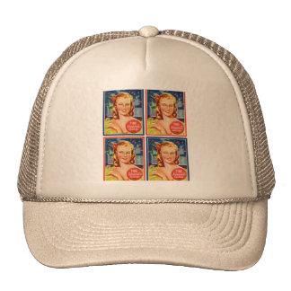 Pin de los gráficos del kitsch del vintage encima gorros bordados