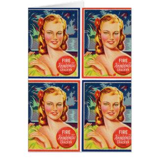 Pin de los gráficos del kitsch del vintage encima tarjetas