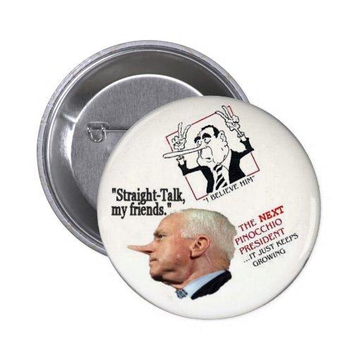 Pin de McCain Pinocchio