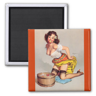 Pin de meneo de Apple Gil Elvgren del vintage enci Imán Para Frigorífico