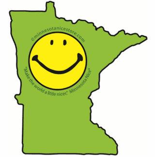 Pin de Minnesota de la cara sonriente Niza Esculturas Fotograficas
