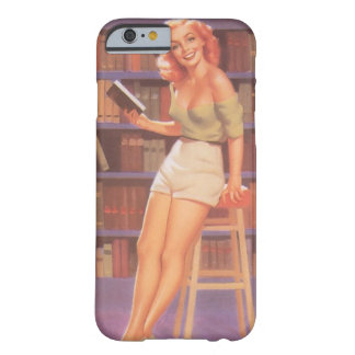 Pin de Nerdie del vintage encima del chica Funda De iPhone 6 Barely There