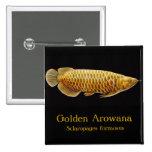 Pin de oro de los pescados de Arowana