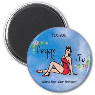Pin de Peggy Jo para arriba Imán Redondo 5 Cm