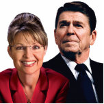 PIN de Ronald Reagan y de Sarah Palin Escultura Fotográfica
