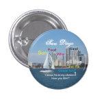 Pin de San Diego, California Pin Redondo 2,5 Cm