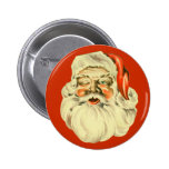 Pin de Santa del vintage Pin Redondo 5 Cm