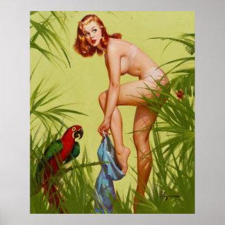 Pin de vestido tropical para arriba póster