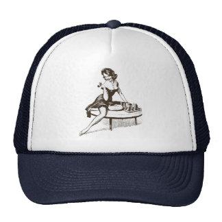 Pin del ajedrez del vintage encima del esquema del gorra
