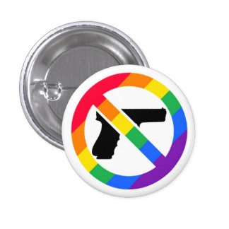 Pin del arco iris del Anti-Arma LGBT