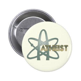 Pin del ateo (símbolo ateo americano oficial) pin redondo 5 cm