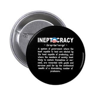 Pin del botón de Ineptocracy de la administración