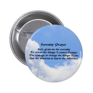 Pin del botón de la afirmación del cielo azul del