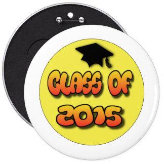 Pin del botón de la graduación, clase de 2015