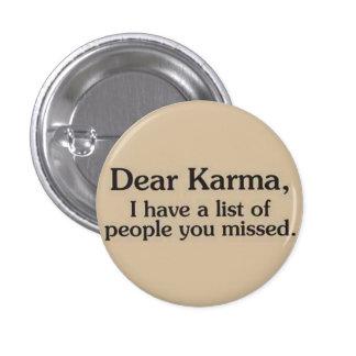 Pin del botón de las karmas