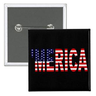 Pin del botón de MERICA de la bandera de los E.E.U