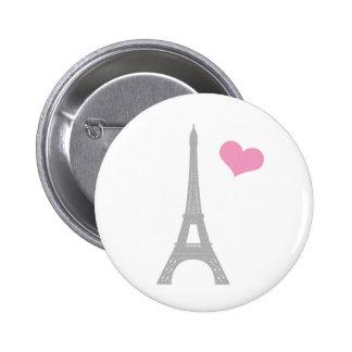 Pin del botón de París del amor