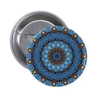 Pin del botón de Pinback del vitral de la estrella
