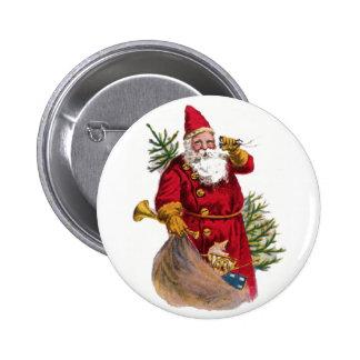 Pin del botón de Santa del vintage