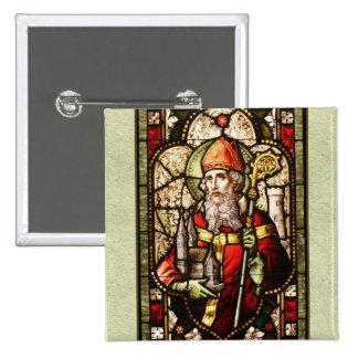 Pin del botón del cuadrado del arte de St Patrick