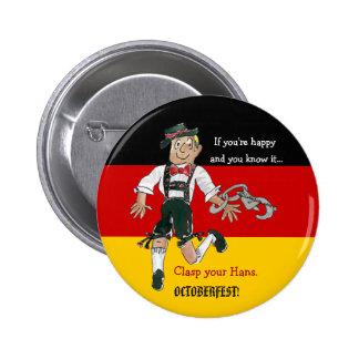 Pin del botón del dibujo animado de Oktoberfest