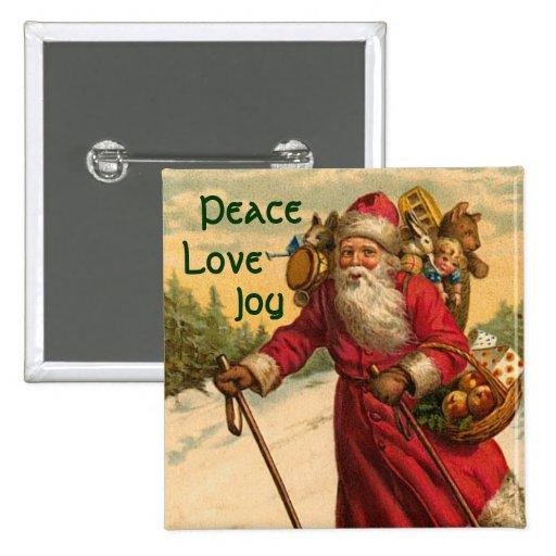 Pin del botón del navidad del Victorian