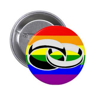 Pin del botón del orgullo gay de la igualdad de la