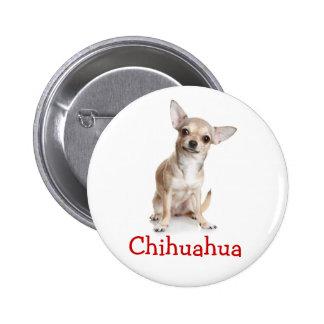 Pin del botón del perro de perrito de la chihuahua