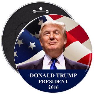 Pin del botón del presidente 2016 jumbo de Donald
