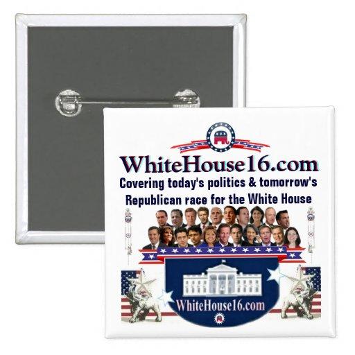 Pin del candidato del republicano de la Casa Blanc