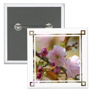 Pin del cerezo pin cuadrada 5 cm