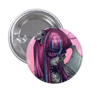 Pin del chica del monstruo del Gargoyle Pin Redondo 2,5 Cm