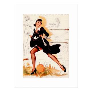 Pin del chica del Quaker de la acción de gracias e Postales