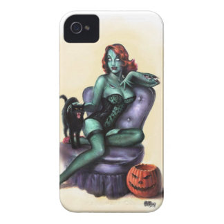 Pin del chica del zombi de Halloween para arriba Carcasa Para iPhone 4