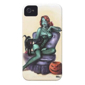 Pin del chica del zombi para arriba iPhone 4 Case-Mate fundas