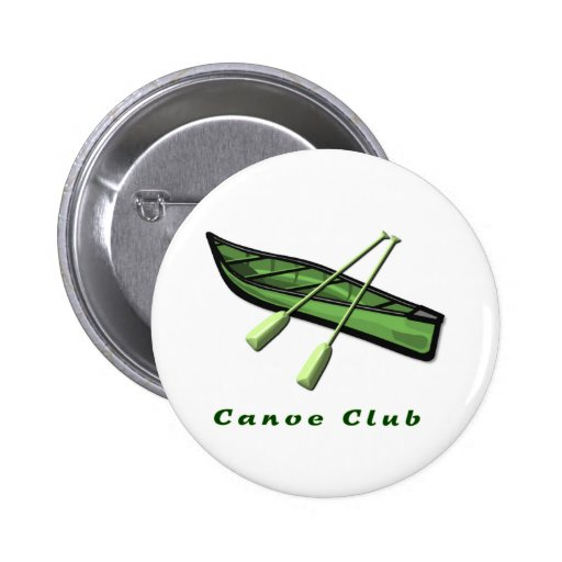Pin del club de la canoa pin redondo 5 cm