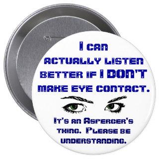 Pin del contacto visual de Aspergers/No