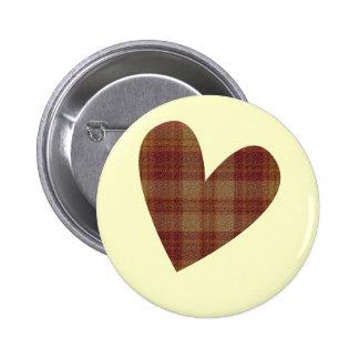Pin del corazón de la tela escocesa