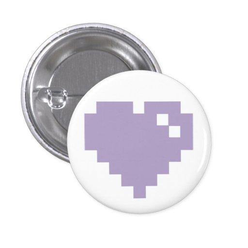 Pin del corazón del pixel