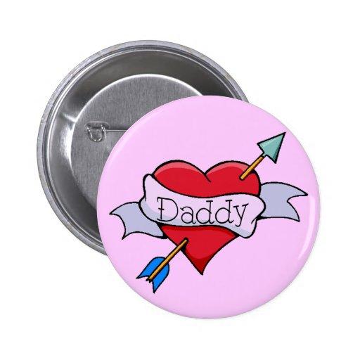 Pin del corazón del Tat del papá
